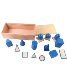 Hot Sell High Quality Montessori Materials.teaching aids.teaching Educational tools Geometric Solids with Stand, Bases, and Box.