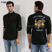 Mens embroidery latest shirt designs for men 2018