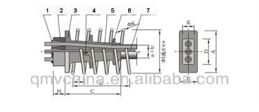Good quality 5-holes prestressed slab anchorage for building construction