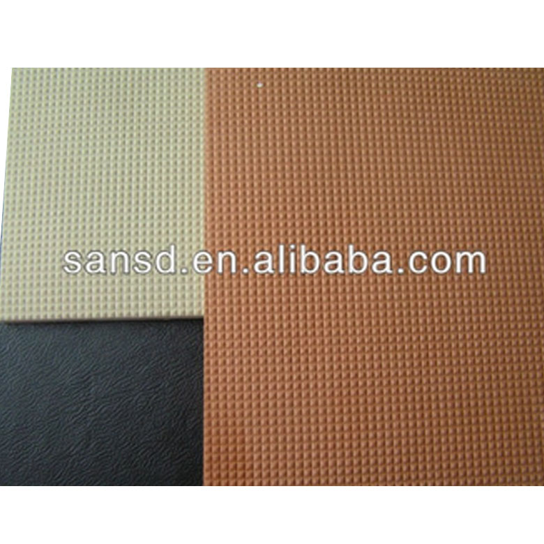 EVA foam sheet eco friendly brown color diamond pattern embossed for shoe