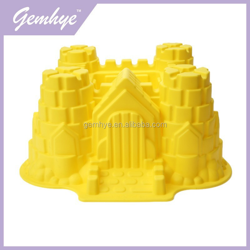 Hot Sales FDA/LFGB Microwave Silicone Castle Cake Mould