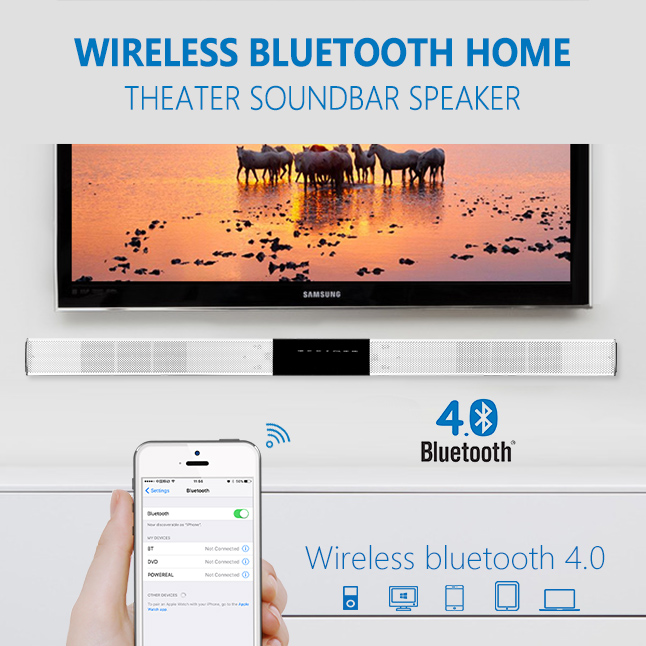 2016 ULTRA SLIM HOME THEATER SPEAKER SOUND BAR BLUETOOTH WITH BUIL-IN SUBWOOFER