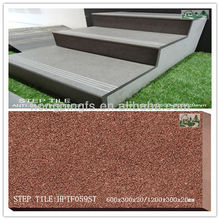 1200x300x20mm,600x300x20mm Porcelain Non Slip Prefabricated Stairs