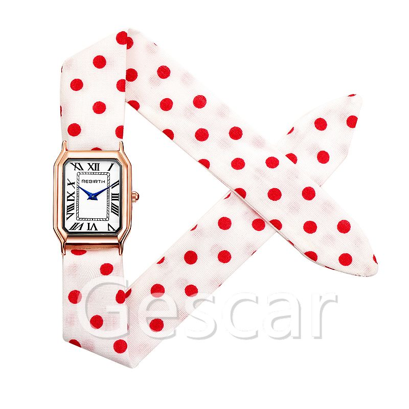 Rebirth RE098 hot sale high quality cloth strap wrap quartz elegance wrist watch women