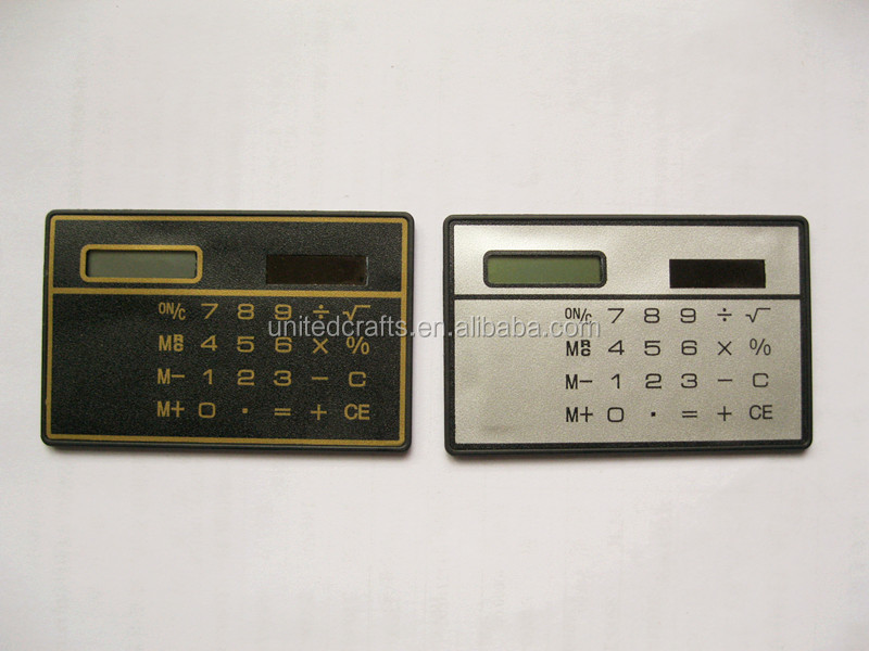 cheapest 8 digit super slim name card calculator solar power pocket calculator