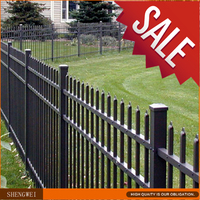 Cheap galvanized housing yard metal steel fencing