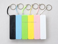 Lowest Factory price OEM custom logo printing 2200mah portable universal perfume Keychain mobile phone Power Bank charger