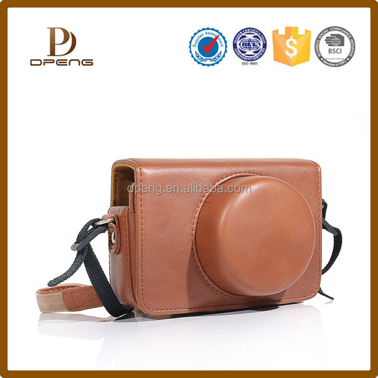 2015 New arrival consice pu leather cute camera bag