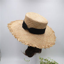 Hand Knitted Raffia Straw Farmer Hats