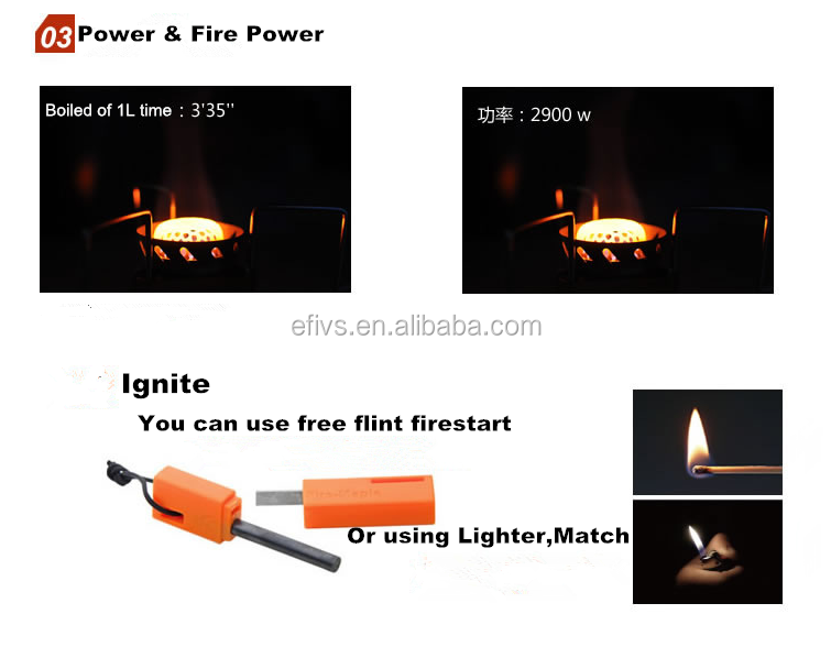 Powerful fire burnner split type antiwind camping gas stove