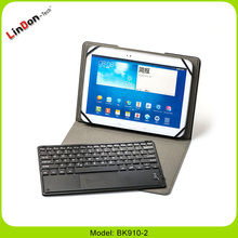 Leather Case Cover Detachable Wireless Bluetooth Keyboard For Google Nexus 10 Inch With Touchpad