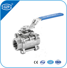 industral 1 2 3 pieces pcs water oil gas handle lever manual operated npt bsp g male female screw thread ball valve