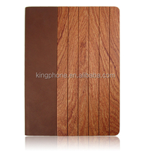leather case for ipad, rosewood back cover case for ipad air