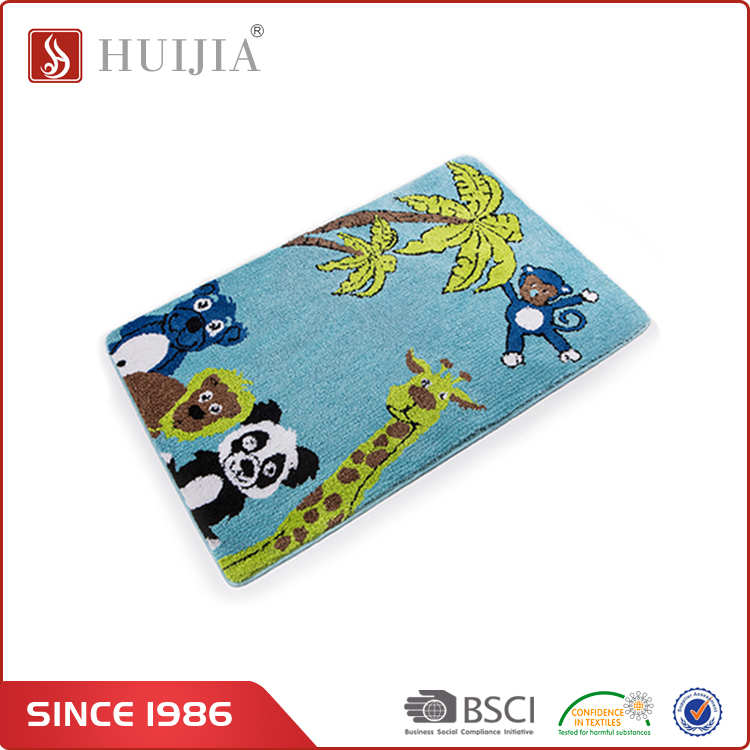 HUIJIA 2017 China Newest Product Top Quality Lovely Pattern Modern Carpet Rug and Floor Mat