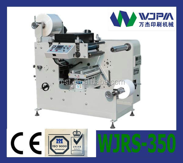 Label Slitting Machine With Rotary Die-cutting Station(WJMF-350)