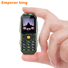 Mini Phone Shockproof Dustproof Mobile Phone 3800Mah Big Battery Russian Keybord Multi Language LED Flash Light Power Bank Phone