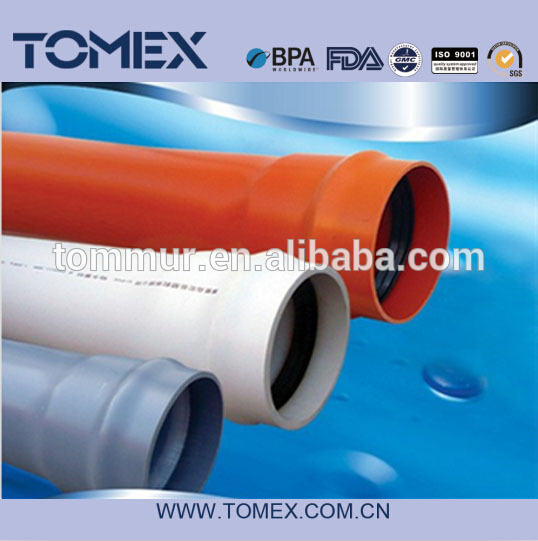 2015 china supplier wholesale products high quality 100mm pvc-u pipe with rubber joints