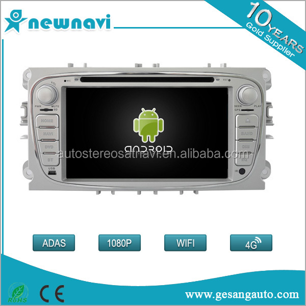 Double Din Android Car dvd Player Car GPS Radio Car Audio Navigation for FORD MONDEO Silver