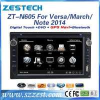 ZESTECH In dash car dvd player double din car gps navigation for Nissan Versa March Note 2014 with turkish language