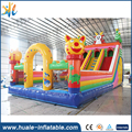 Huale PVC material kids outdoor inflatable fun city giant inflatable bouncer castle with cute deers