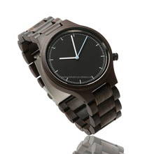 2017 bewell black men wooden bezel watches OEM cheap design with your own logo