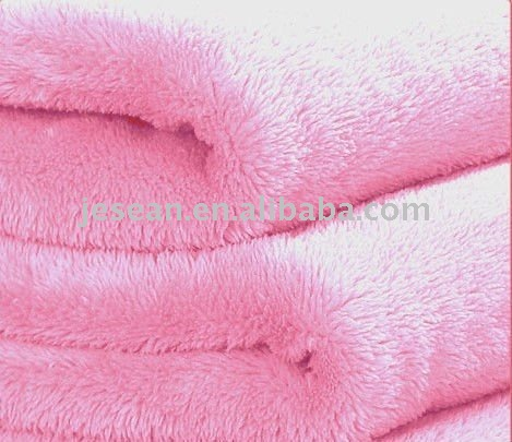 100%polyester printed plain coral fleece fabric