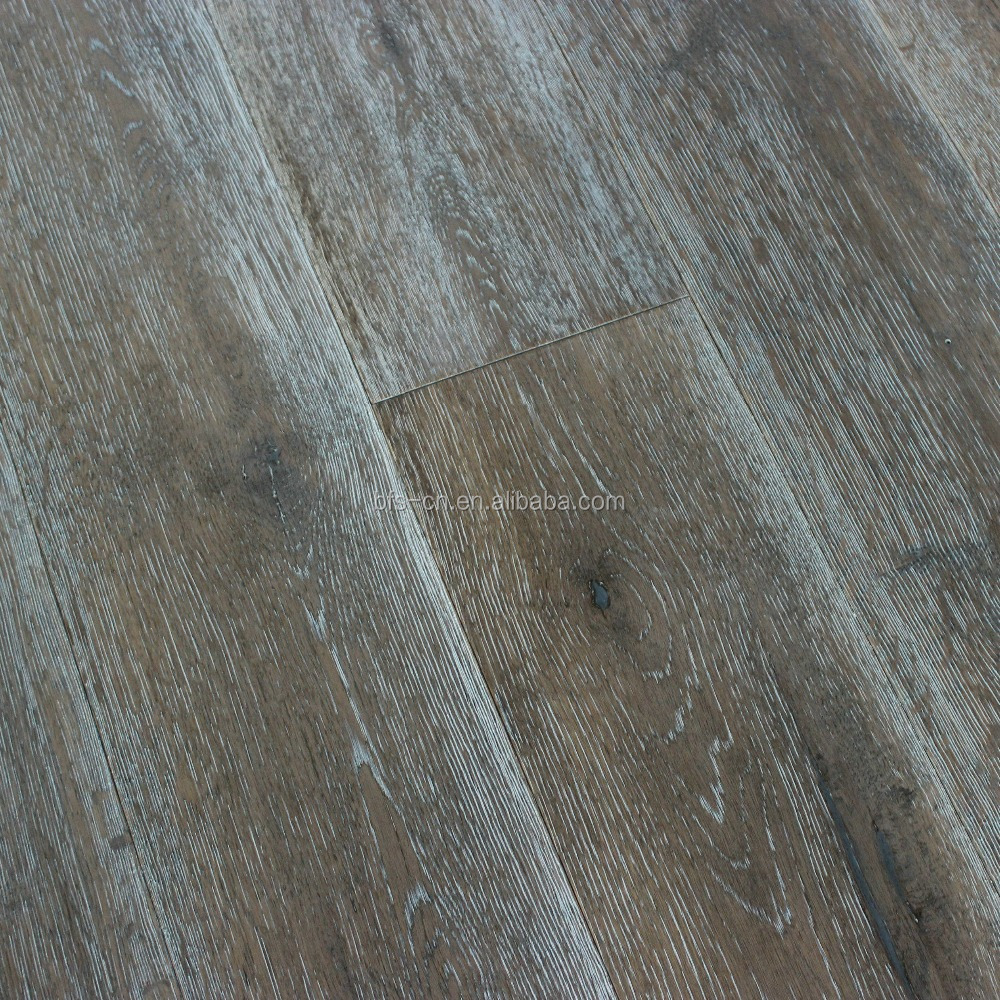 Wide plank <strong>oak</strong> wood flooring A mixed colour Smoked&100% handcrafted CARB2 Certification <strong>Oak</strong> 3 - ply engineered Wood Flooring