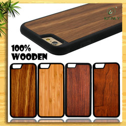 Wholesale Ultra thin Wood and PC case,Mobile Cover for iphone 6 6S