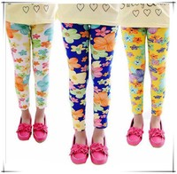 High quality 2015 new summer girls Leggings pants flower princess children trousers butterfly printing girls pants from OEM GZ