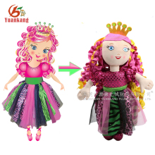 2017 China Custom Stuffed 25Cm Plush Human Toy Soft Bodies Pink Ragdoll Toys Handmade Life Size Rag Doll