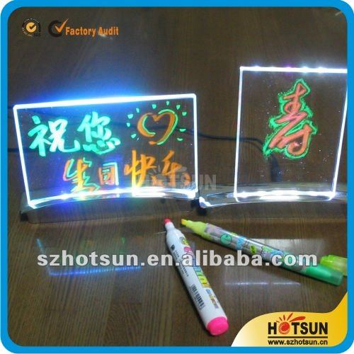hot sale acrylic tabletop led light sign display