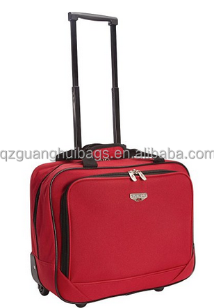 New polyester laptop rolling luggage trolley laptop briefcase