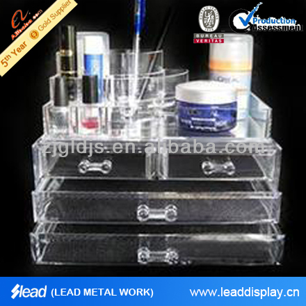clear acrylic cosmetic box for storage makeup,jewelry,cosmetic,cloth,shoe,etc