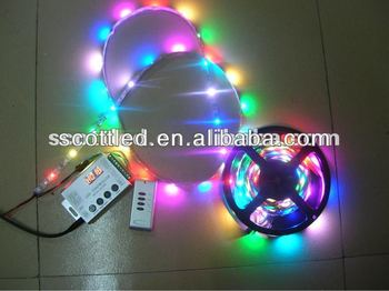 one set non-waterproof ws2813 ws2811 pixel led digital strips,including digital controller and power supply