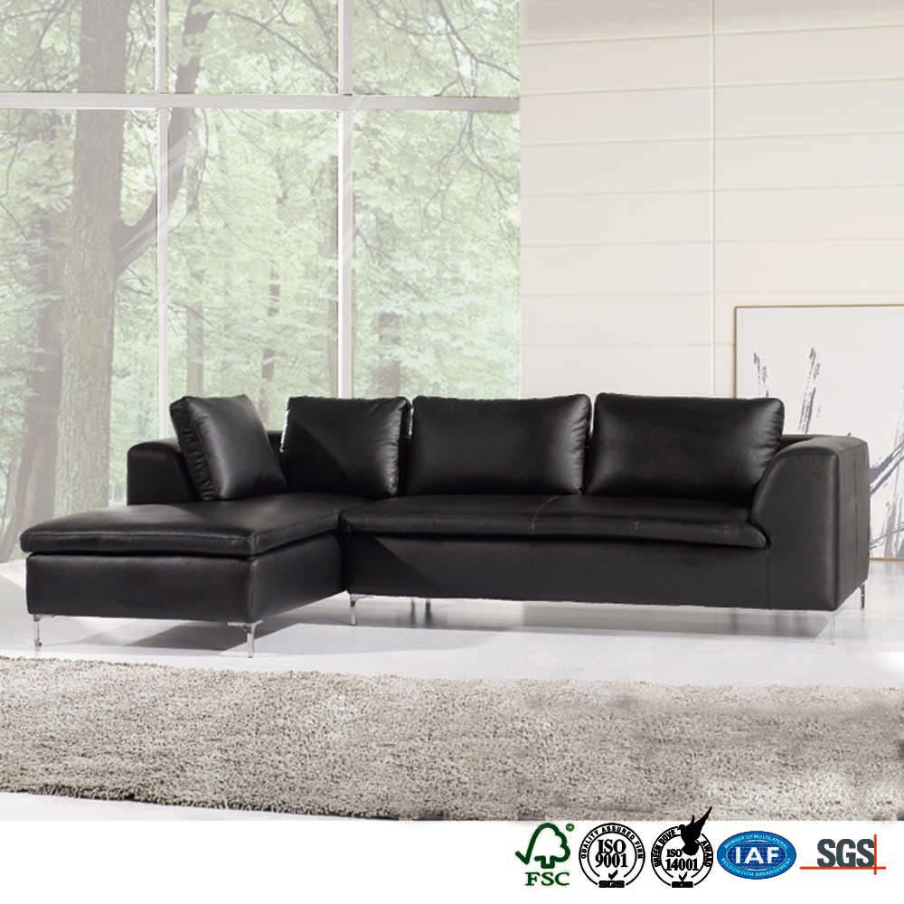 Zinc alloy legs competitive price hand made corner sofa