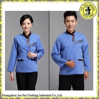 China factory blue cleaning uniform for hotel