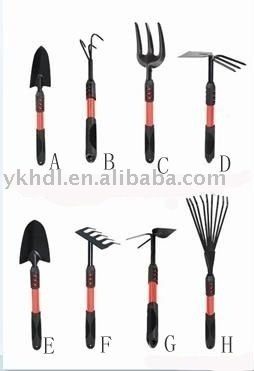 telescopic garden hand trowel/transplanter/hoe fork/hedge shear/lopper/rake/pruning scissors tool