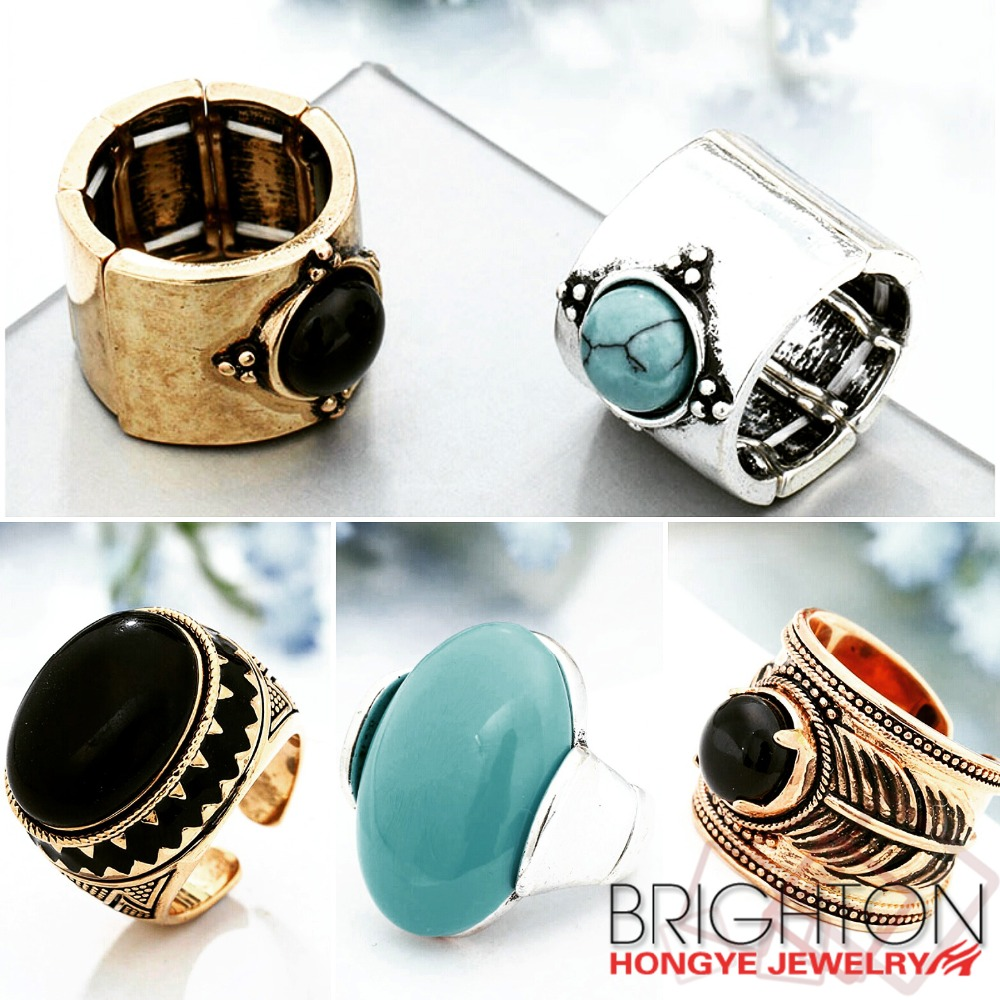 Vintage Rings Old Fashion Jewelry