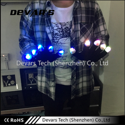 Colorful CE&ROSH Certificate Low Moq Finger Light Up LED Gloves