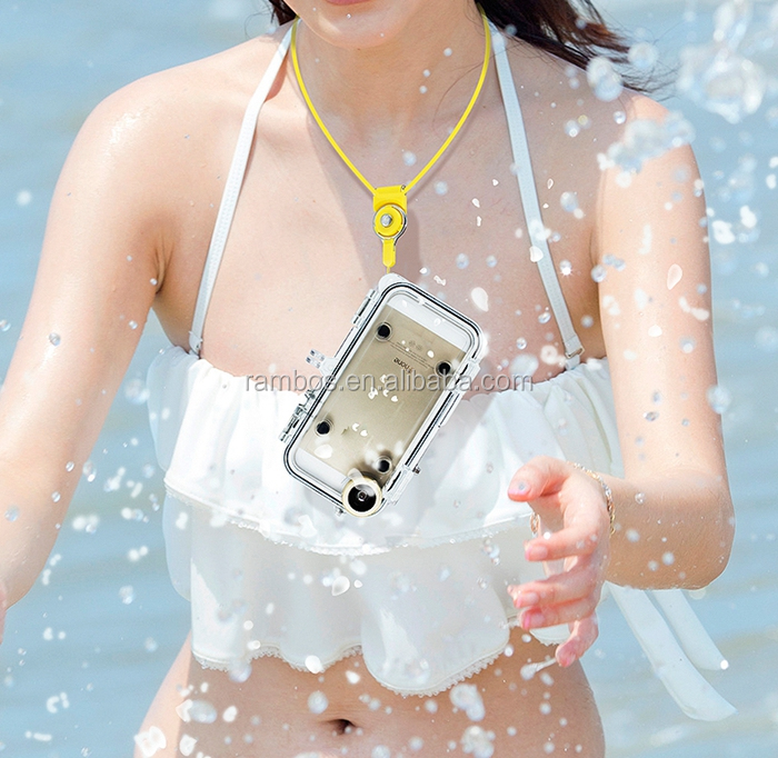 IP68 Waterproof Phone Case Cover with Wide Angle Lens Adapter for GoPro <strong>Accessories</strong> for IPhone 5 5S