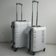 Plastic Polycarbonate 24 White Hard Vintage Metal Suitcase With Wheel white hard case luggage