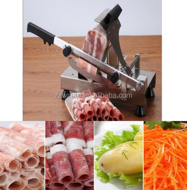 Professional frozen meat slicer machine /manual beef meat slicing machine /mini mutton roll slicer