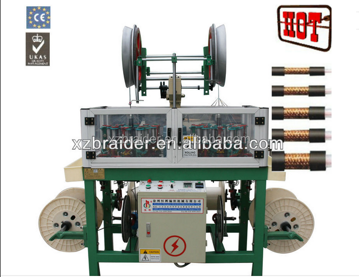 Henghui wire and cable braiding machine used for glass fiber sleeve/PETflexible hose/high temperature wire