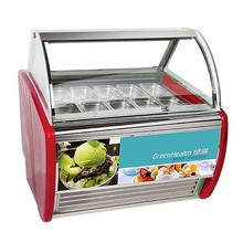 Horizontal ice cream display italy ice cream display cabinet manufacturers gelato display freezer for sale