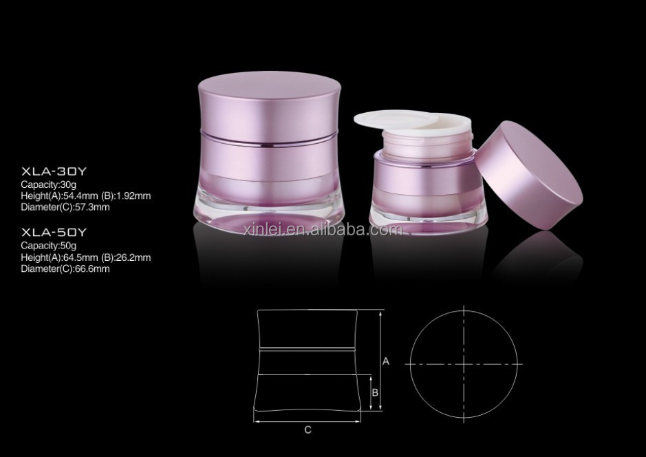 Drum Shape acrylic cream clean jar,plastic cosmetic jar