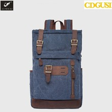 2017 new Fashion arcuate shouider strap zipper solid casual bag male backpack school bag canvas bag designer backpacks for men