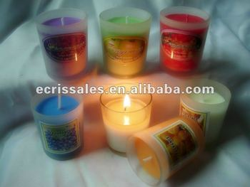 Ali express promotion gift soy wax glass Candle,frost glass candle