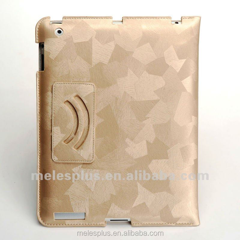 Silky PU leather smart cover cases for ipad2/3/4