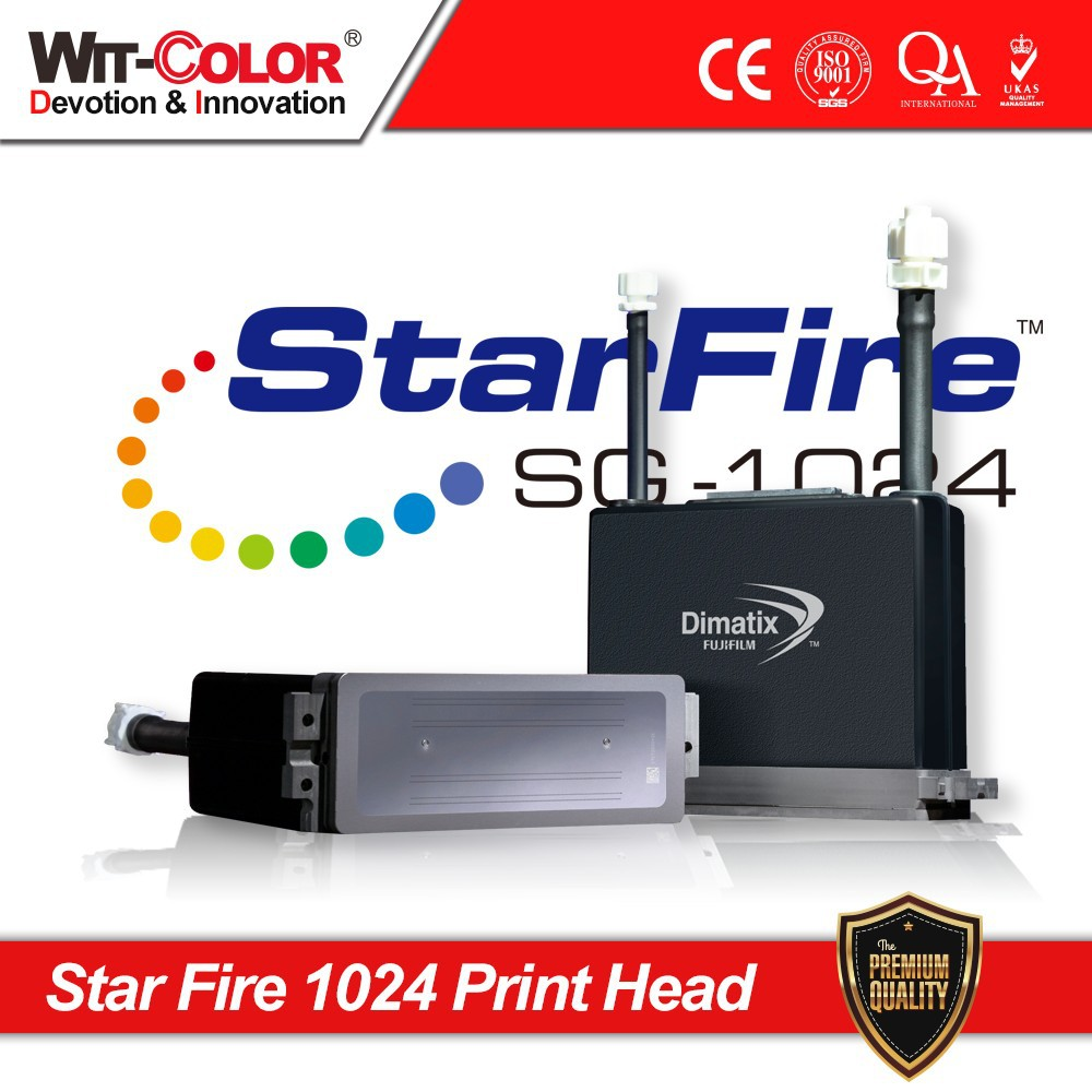 Wit Color 2015 the Newest Repairable Solvent Print Heads Starfire 1024 10PL/25PL Inkjet Printhead