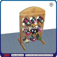 TSD-W920 Custom promotion countertop wooden keychain display rack,keychain holder display,keychain display stand
